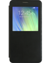 MYCANDY GALAXY A7 BOOK CASE WITH QUICK VIEW BLACK