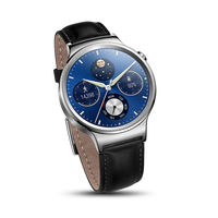 HUAWEI W1 SMARTWATCH LEATHER STRAP WITH METAL FACE,  black
