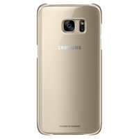 SAMSUNG GALAXY S7 EDGE CLEAR BACK COVER GOLD,  gold