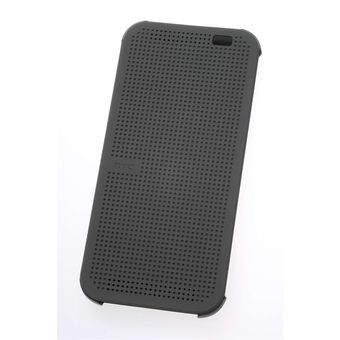 HTC ONE M8 DOT FLIP CASE,  grey