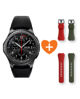 SAMSUNG GEAR S3 FRONTIER+ 2 STRAPS - ORANGE & KHAKI