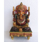 Ganesha on Chowki Painted, 5 