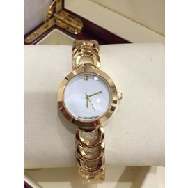 Imported Bridal Wear Designer Movado Golden Belt Gift Watch Women Lady Ladies White Dial