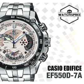 100% Authentic Imported Casio Edifice 550 White Dial Chronograph Watch for Men