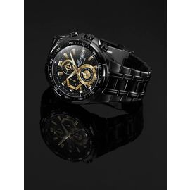 100% Authentic Casio Edifice EFR-539BK-1A Black Ion Plated Stainless Steel Watch EFR-539BK-1AV