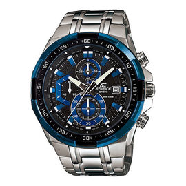 100% Authentic Casio Edifice EFR-539D-1A2VDF Men Blue Ion Plated Bezel Stainless Steel Watch